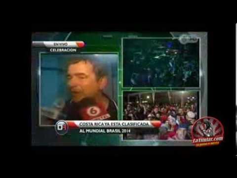 Jorge Luis Pinto llora de felicidad por clasificar a Costa Rica al Mundial