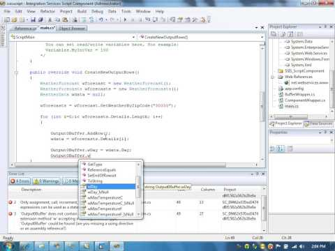 Web Services using Script task in SSIS 2008