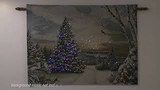 Christmas Morning Ii Lighted Holiday Wall Tapestry