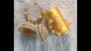 How to make handmade silk thread bridal jhumka earrings