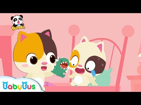 Baby Kitten and Mr. Dinosaur | Bedtime Story | Learning Video for Kids | Learn Big and Small|BabyBus