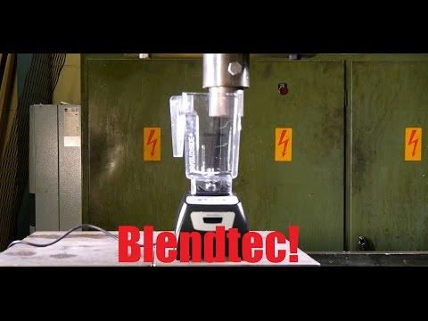 Will it blend or will it crush? Blendtec blender vs. Hydraulic press