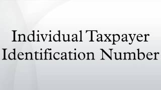 Individual Taxpayer Identification Number
