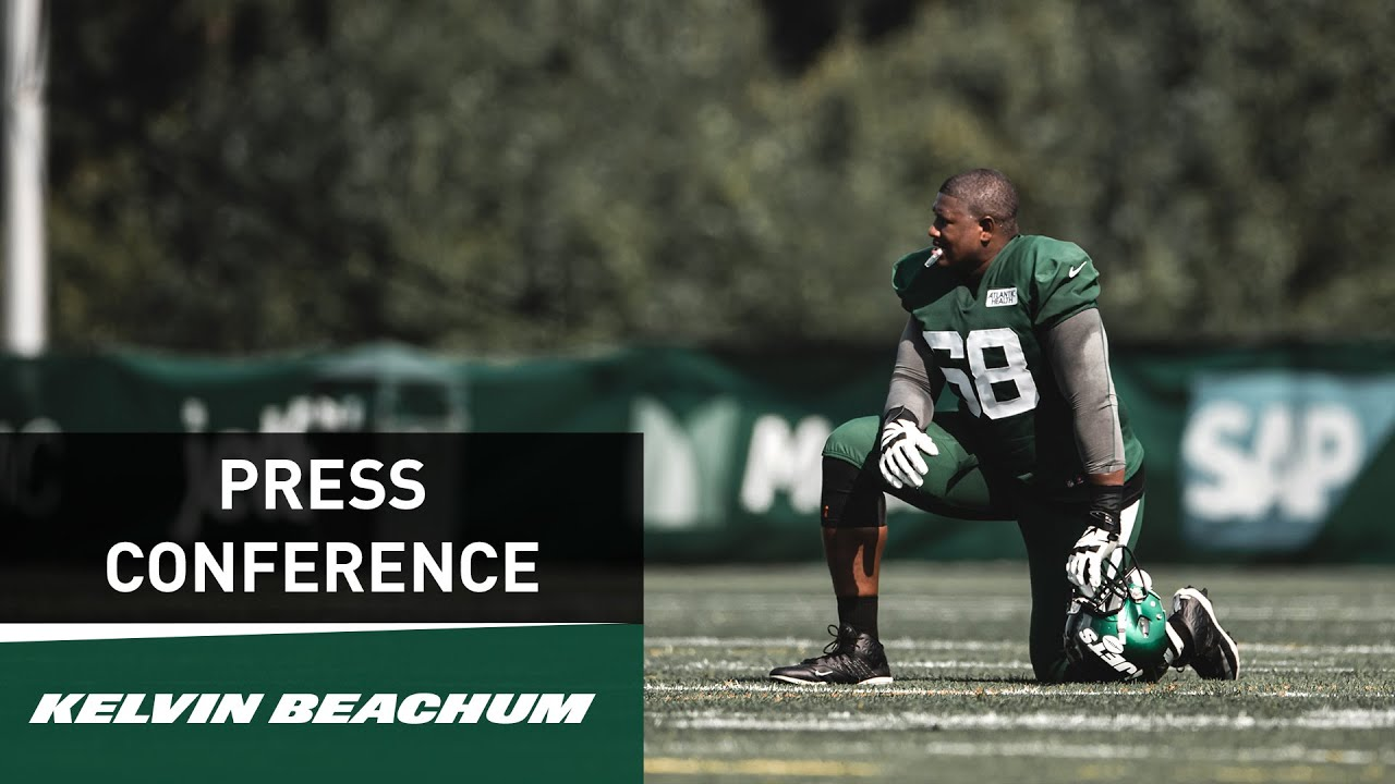 sports shoes 63584 31ad9 Kelvin Beachum Press Conference (7/26) | New York Jets Training Camp | NFL