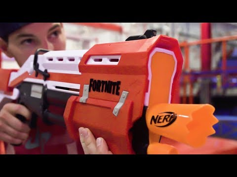 Nerf Fortnite Blasters Battle | Dude Perfect