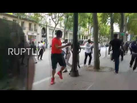 France: Protesters clash with French police ahead pro-DRC government singer gig