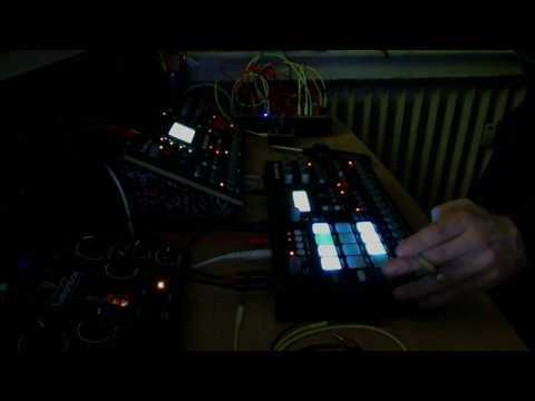 BIRK S. - Live Techno Setup Test 01. ( Elektron Octatrack, Analog Rytm, Lifeforms sv-1, Fusionbox )