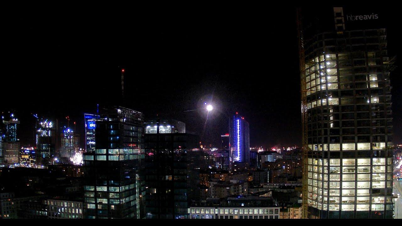 Warszawa Sylwester 2019/2020 Centrum - TIMELAPSE