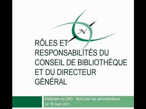 Conseil et directeur général : Rôles et responsabilités