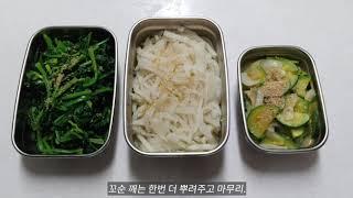 브이로그 시작, 시금치무침/무나물/호박볶음 유아식판식