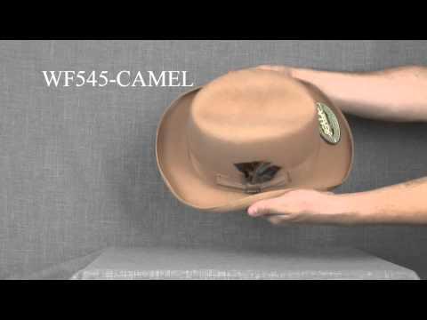 WF545-CAMEL Шляпа фетровая Scala GODFATHER