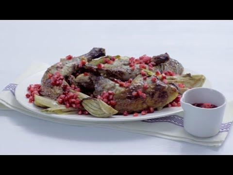 Parelhoenbouten met venkel en granaatappelsaus - Allerhande