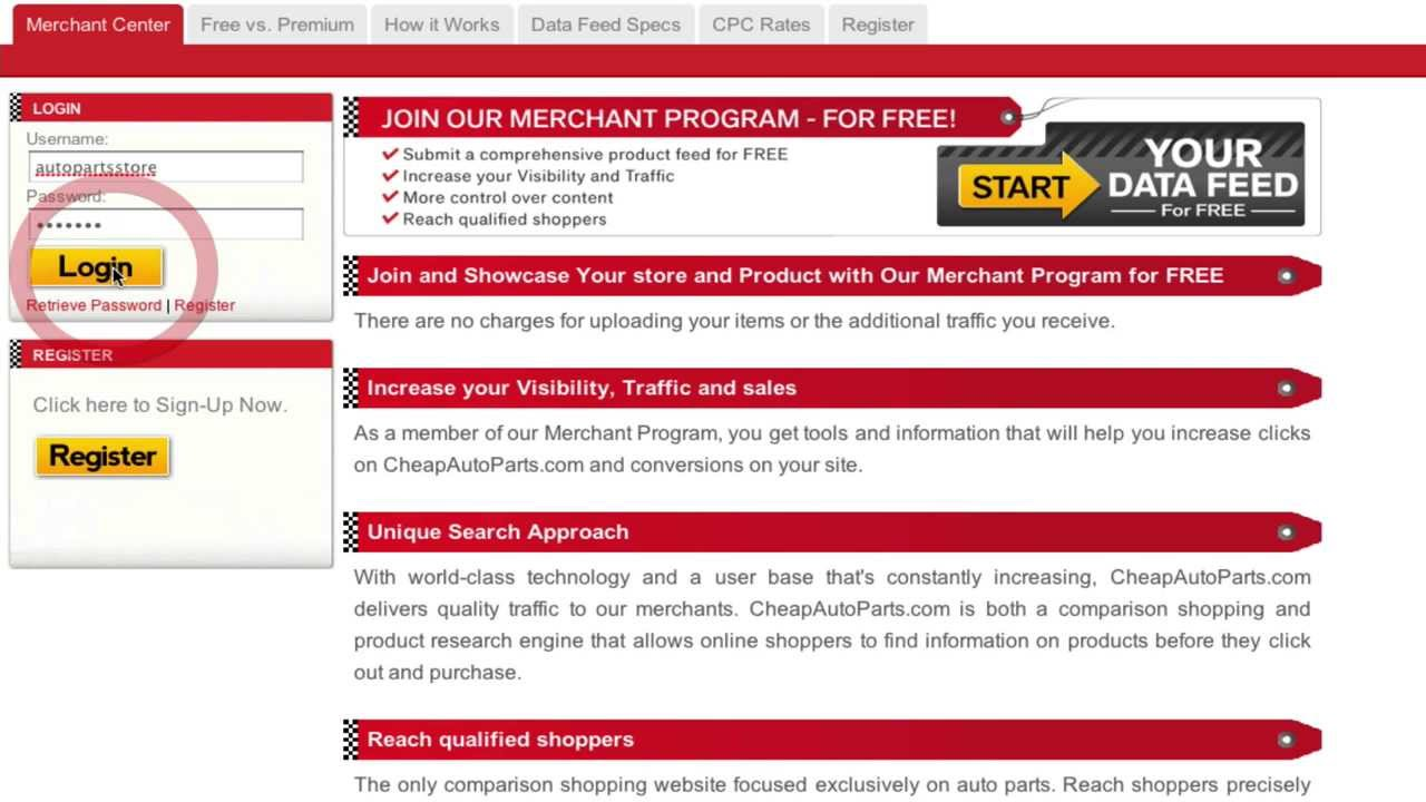 Merchant Program Registration Youtube