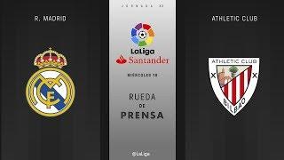 Rueda de prensa R. Madrid vs Athletic Club