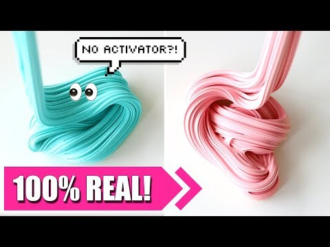 How To Make Slime Without Activator! 2 Ingredients Only, No Borax, No Liquid Starch