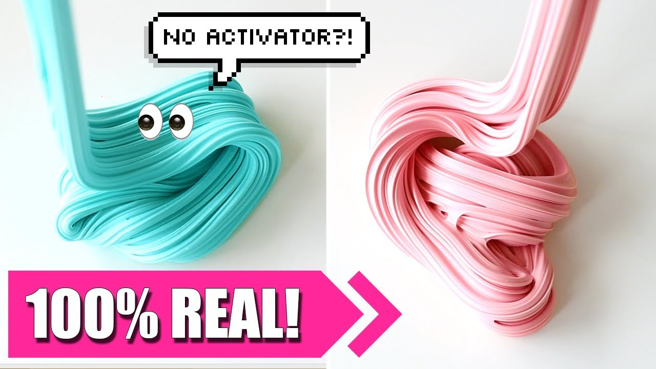 How To Make Slime Without Activator 2 Ingredients Only No Borax