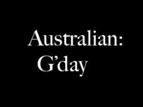 How to say hello in australian youtube how to say hello in australian m4hsunfo Images