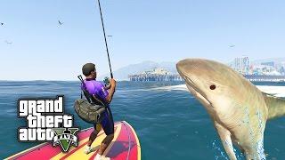 GTA 5: WIR HABEN DEN HAI GEFANGEN ! - FISHING MOD | iCrimax