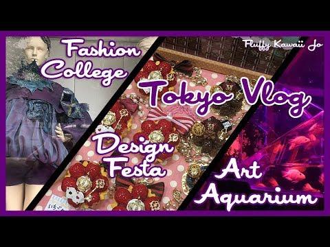 Tokyo vlog 2017 - Design Festa - Bunka Fashion College - Art Aquarium