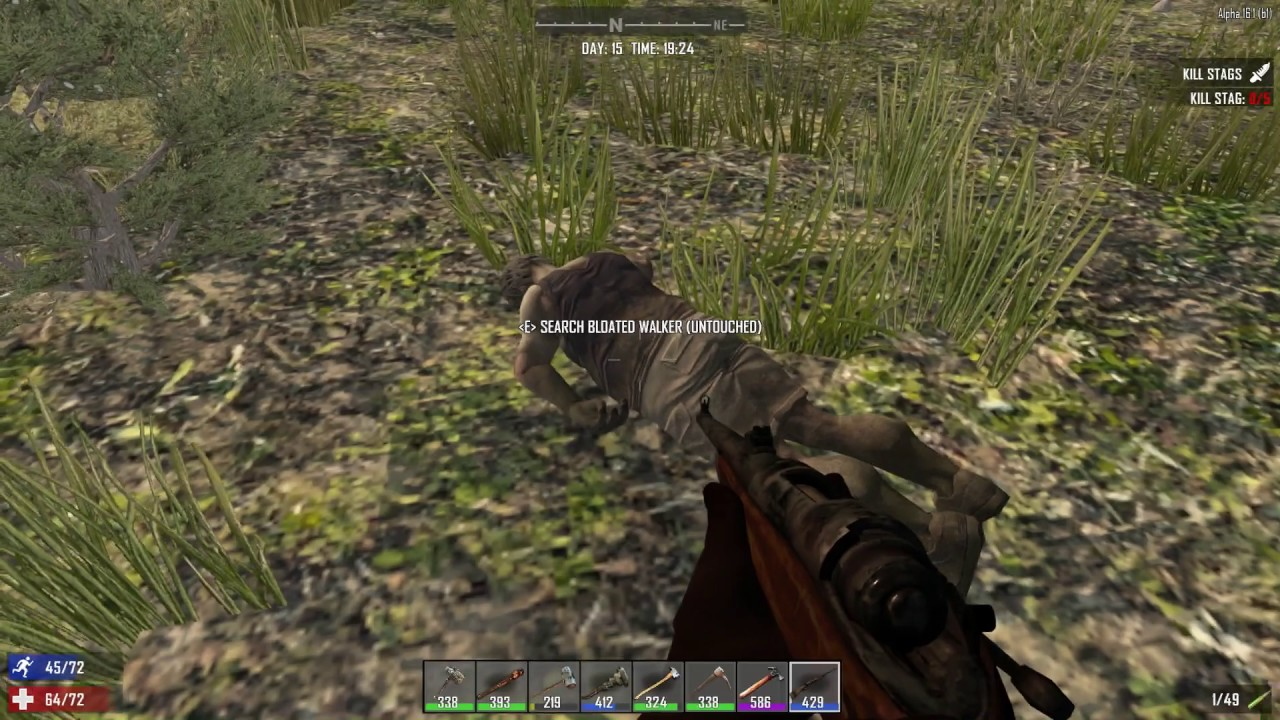 My First Hunting Rifle Kill 7 Days To Die Youtube