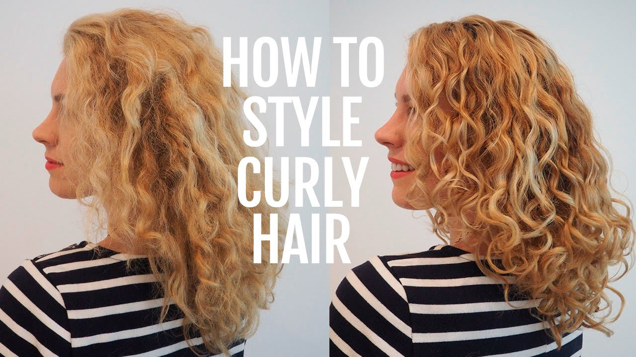 How To Style A Curly Hair How To Style Curly Hair For Frizz Free Curls  Youtube