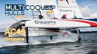 America's Cup catamaran test