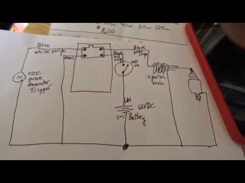 How to build ATV / Pit Bike CDI system, low cost, easy project, Yamaha Moto Cdi Wire Diagram on