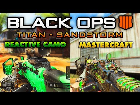 """Soul Eater"" REACTIVE CAMO  & ""Black Knight"" MASTERCRAFT CAMO - BO4 Titan Sandstorm Signature Weapon"