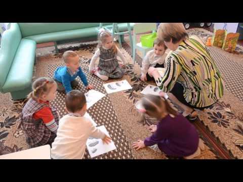 Дидактическая игра Угости ежиков яблоком , пальчиковая гимнастика, первая младшая группа