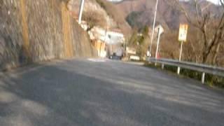 早春の雛鶴峠ダウンヒル 等倍速 Hinatsuru-touge Yamanashi,Japan