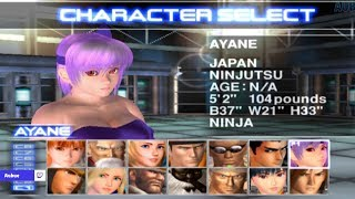 Dead or Alive 2 All Characters [PS2]