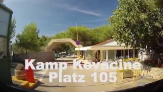 Camp Kovacine Anfahrt Platz 105 Gelb