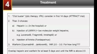 Part 4: Treatment - DVT and PE: What Patients Need to Know