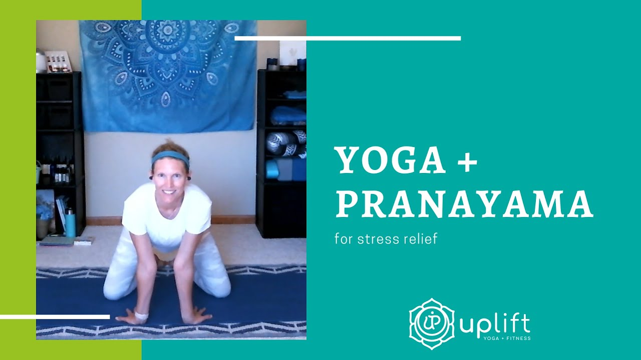 Yoga + Pranayama for Stress Relief - YouTube