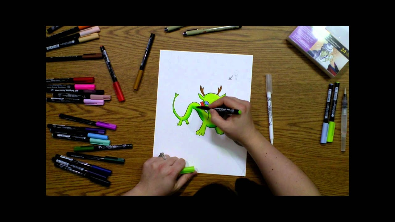 koi coloring brush - how to blend colors and add dimension - youtube