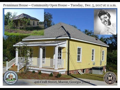 Little Richard Penniman House-Community Open House-416 Craft Street, Macon,Ga,31201