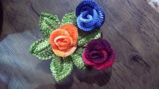 Botões de Rosa em Crochê