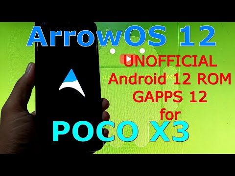 ArrowOS Android 12 for Poco X3 NFC (Surya) - GAPPS 12