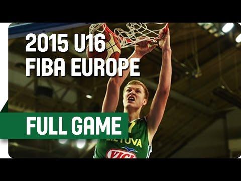 England v Lithuania - Group E - Full Game - 2015 U16 European Championship Men