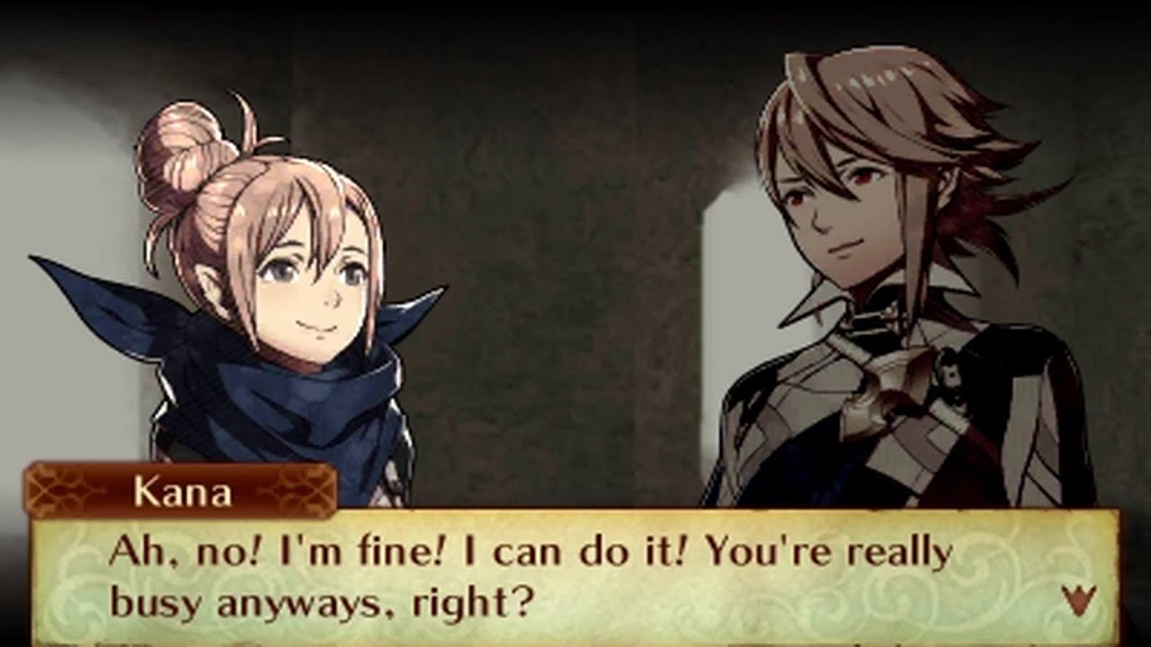 Fire Emblem Fates - Male Avatar (My Unit) & Kana (Female) Support  Conversations - YouTube