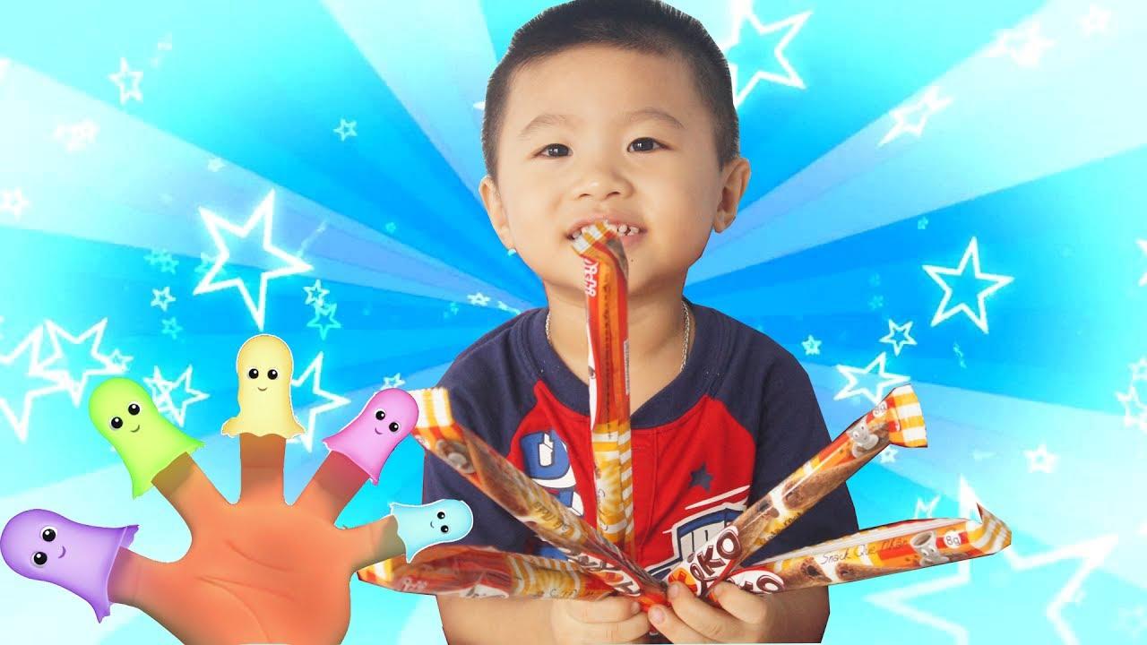 Ăn Bánh Akiko Với Bài Hát Gia Đình Ngón Tay – Happy Baby For Chocolate Cake Finger Family Song