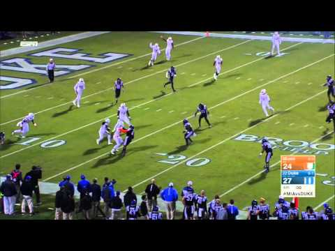 Miami's 8-Lateral Miracle Kickoff Return Touchdown To Beat Duke (HD)
