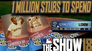 THE IMMORTALS ARE COMING | 1 MILLION STUBS TO SPEND | MLB THE SHOW 18 DIAMOND DYNASTY