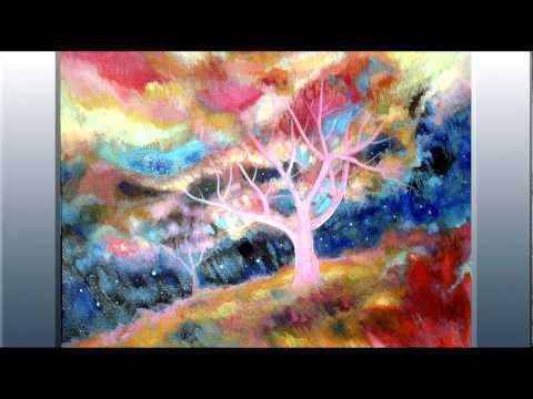 Viskan Original Abstract Paintings Acrylic Watercolor