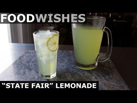 """""""State Fair"""" Lemonade - Best Lemonade Ever - Food Wishes"""