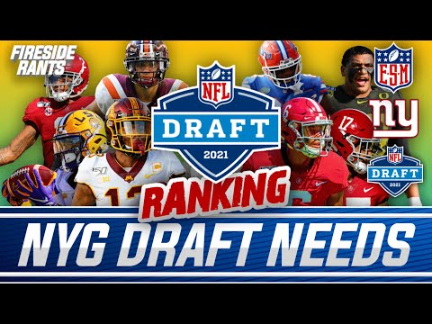 Ranking the TOP 5 Needs for the New York Giants in the 2021 NFL Draft