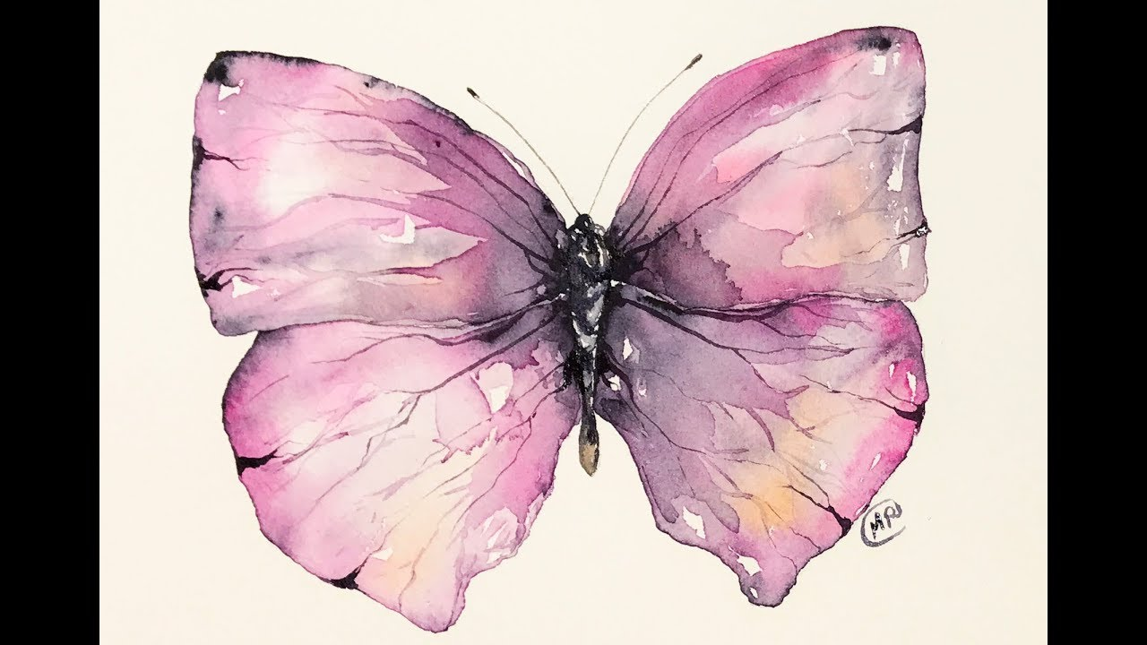 Watercolor Layers Painting Butterfly Tutorial