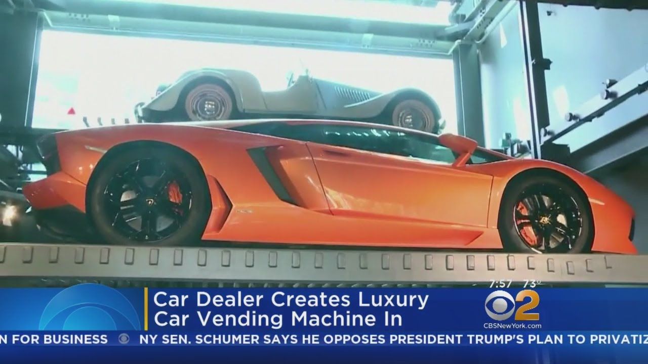 Car Dealer In Singapore Creates Luxury Car Vending Machine Youtube
