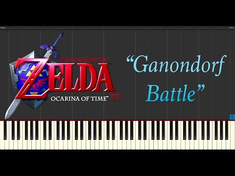 The Legend Of Zelda: Ocarina Of Time - Ganondorf Battle (Piano Tutorial Synthesia)