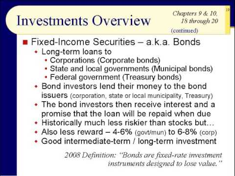 BUS123 Chapter 01 - Overview of Investment Types - Slides 15 to 34 - Fall 2017